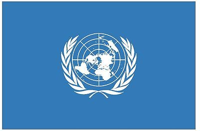 UNITED NATIONS Vinyl International Flag DECAL Sticker MADE IN THE USA F532