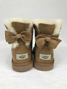 3a1f17fe529 UGGS UGG MEILANI BOW BOOTS BOOT US Size 5 CHESTNUT SHEEPSKIN | eBay