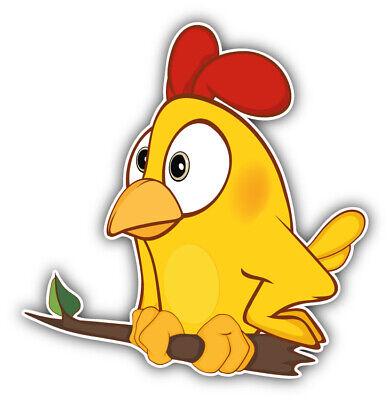 Funny Chicken Scared Cartoon Car Bumper Sticker Decal /'/'SIZES/'/'
