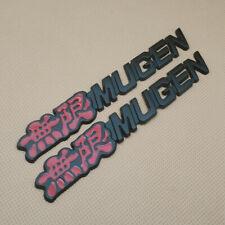 2pcs Metal Black Amp Red Mugen Fender Emblem Car Trunk Sport Badge Sticker Decal Fits 2012 Honda Civic