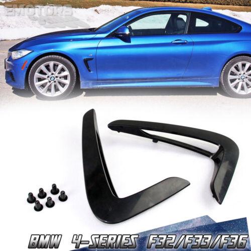 Painted Matte Black Fit For BMW 4 Series F32 F33 F36 Side Fender Vent 2020