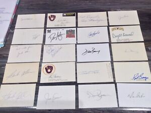 Milwaukee-Brewers-amp-Seattle-Pilots-Signed-Autograph-Index-100-Card-Lot-3x5-Tough