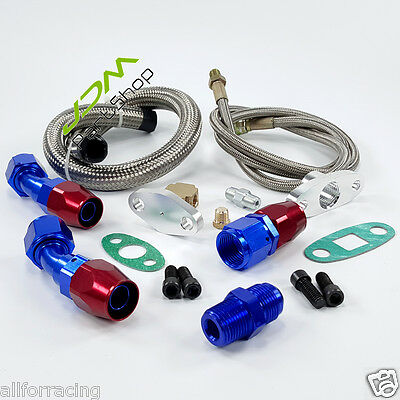 Universal Turbo Oil Line Kits Feed Line + Return Line kits T3 T4 GT35 T70 T66