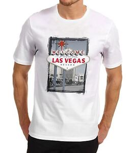 Men-039-s-Welcome-to-Las-Vegas-Iconic-sign-Printed-T-Shirt