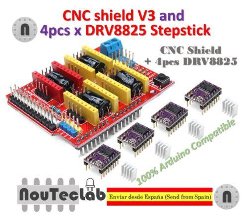 4pcs DRV8825 Stepper Motor Driver for 3D Printer CNC Shield V3 Expansion Board
