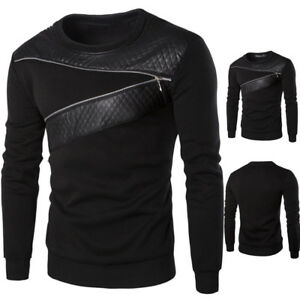 Men-Winter-Warm-Splicing-Leather-Sweatshirt-Coat-Jacket-Outwear-Sweater-Moda