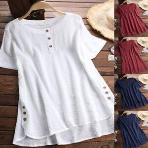 e196e1c280a Plus Size Women Short Sleeve Kaftan Baggy Blouse T Shirt Top Ladies ...