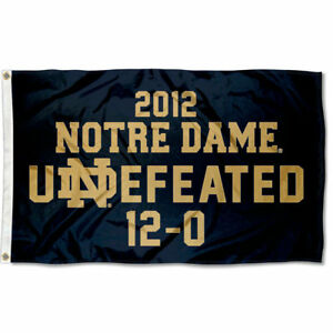 Notre Dame 12-0 Undefeated Flag 848267012820 | eBay