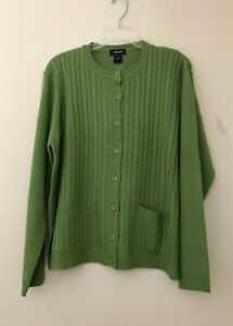 Yarn-Art-Women-s-Long-Sleeve-Two-Pocket-Cable-Knit-Cardigan-Sweater-2X-New