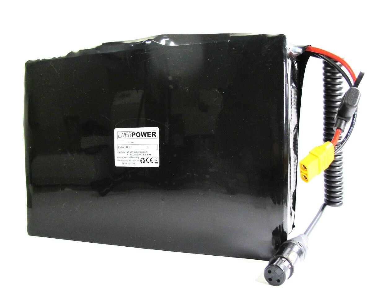 ENERPOWER Softpack Akku Li-Ion 48V 30Q 21Ah Pedelec DIY 13x7 BMS 40A LED 3XLR