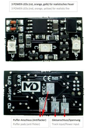 charbon MD mxion DFM analogique /& numérique feu Module Bois braises pétrole h0 MASSOTH LGB