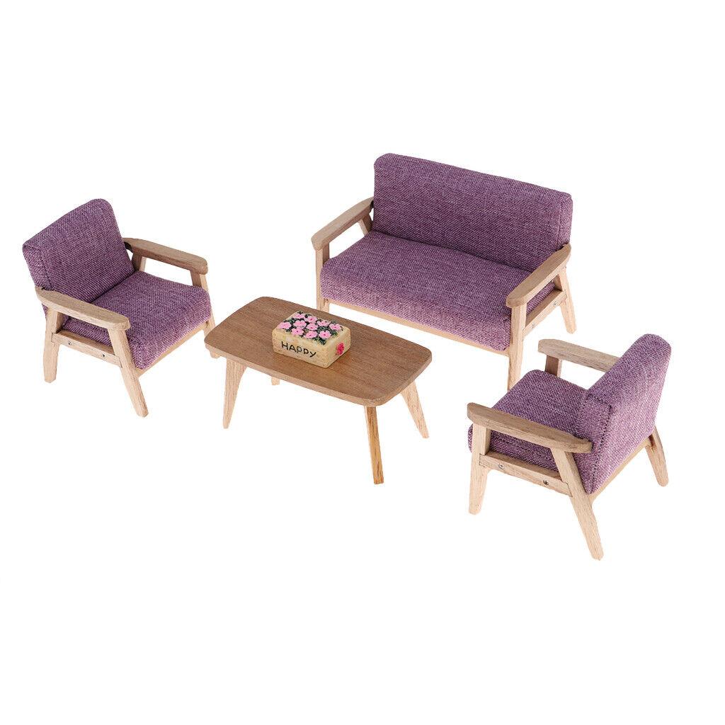 DIVANO in tessuto 1 12 legno Sedia  Tavolo Mobili per casa delle bambole salotto ACCS  consegna rapida