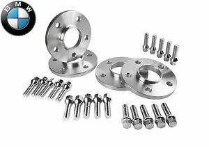 12mm BMW Hubcentric Wheel Spacers Set 5x120 With Chrome Extended Lug Bolts 2