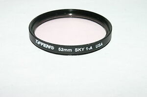 Used Tiffen 52mm Sky 1-A Lens Filter Made in USA 6412043