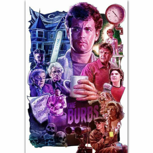 30 24x36 Poster The /'Burbs 1989 Tom Hanks Classic Movie T-691