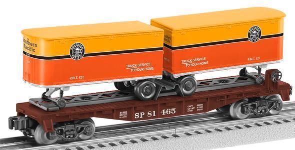 Lionel  81465 southern pacific flatvoiture  with 2 trailers  design simple et généreux