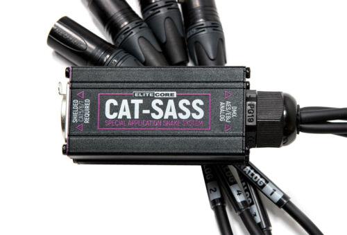 3 Pin Female XLR Neutrik Connectors 4 Elite Core CAT-SASS Snake RJ45