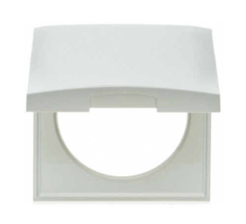 Mains Hinged Shaver Socket Cover in White or Chrome Finish