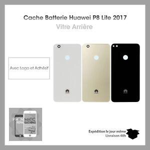 Cache-Batterie-Vitre-Capot-Arriere-ORIGINAL-HUAWEI-P8-LITE-2017-Adhesif
