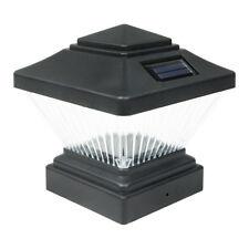 8 Pack Black Outdoor Garden 4 X Solar LED Post Deck Cap Square Fence Light Lamp