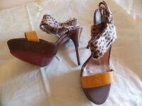 Sommer Sandalette High Heel Gr. 38 NEU