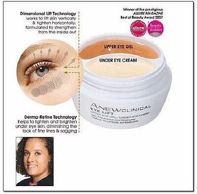 Avon ANEW CLINICAL Eye Lift Upper Eye Gel Under Eye Cream .33oz    Sealed pkg.