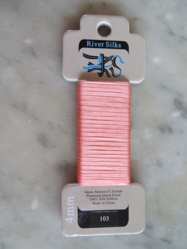 10/% Off River Silks Hand-dyed 100/% Silk Ribbon 5.5 yard Cards