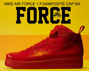 Details about Nike Air Force 1 Foamposite Cup Men 12.5 Shoes Triple University Red BV1172 600