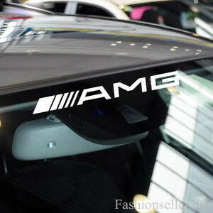 AMG FrontRear Windshield Decal Vinyl Car Stickers For Mercedes - Front window stickers for car