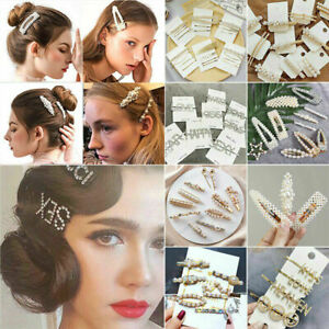 Pretty-Women-Girl-Gold-Silver-Pearl-Flower-Crystal-Hairpin-Hair-Clip-Accessories