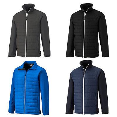 Dickies crayford gilet veste sans manches BW7004 noirs pour homme deux tons fermeture éclair rembourré gilet
