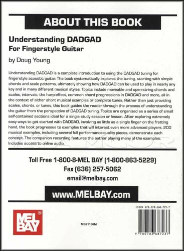 Understanding DADGAD Fingerstyle Guitar TAB Music Book with Audio by Doug Young
