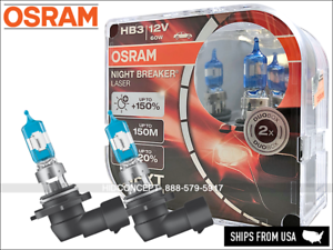 NEW-HB3-9005-OSRAM-Night-Breaker-LASER-NBL-Halogen-Headlight-Bulbs-150-DOT