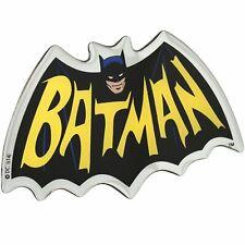 Batman 1966 Logo Car Decal Dc Comics Domed Multicolour Chrome Finish Auto Emblem