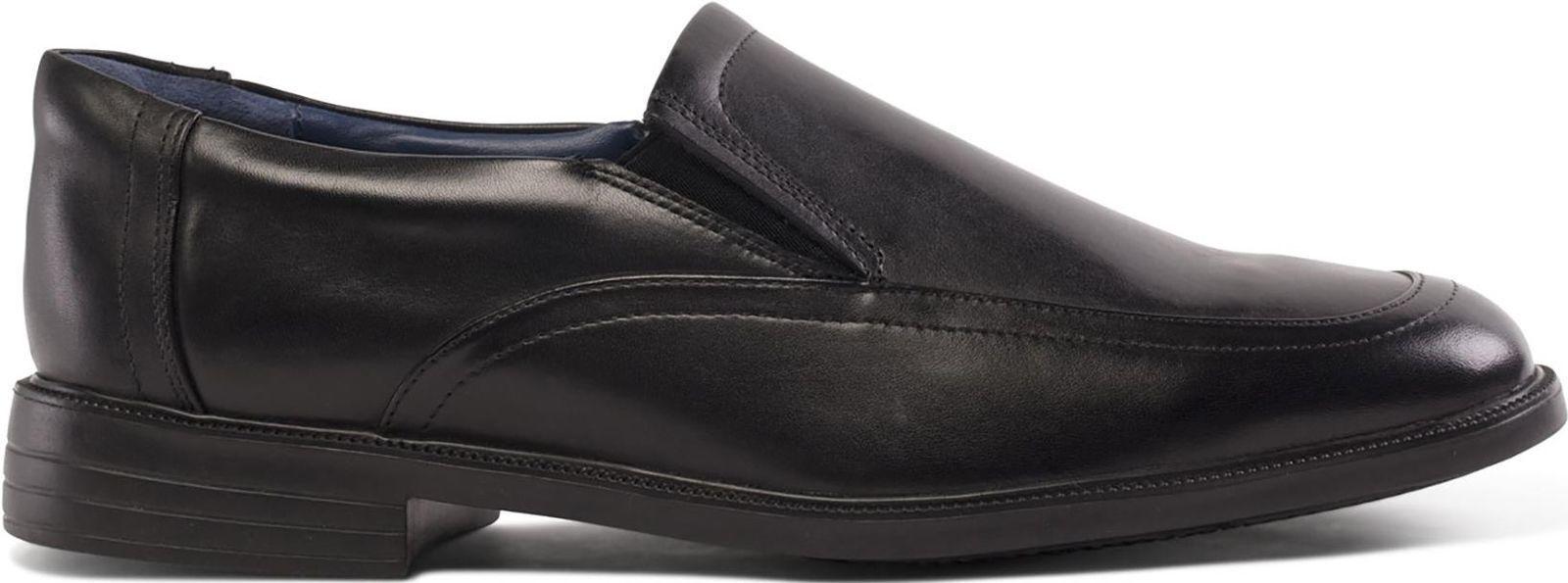 Mens Black Slip On Leather Padders Shoes Formal Feel Good Feet Shoes Padders Bond 46dc14