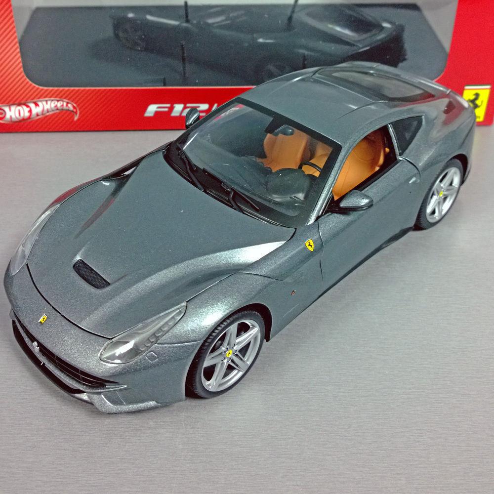 1 18 mattel Hot Wheels Heritage ferrari f12 Berlinetta grigio  bcj74