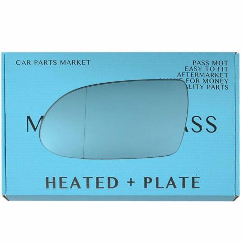 Placa Para Mercedes SL r230 04-08 Lado Izquierdo Azul Cristal Espejo Eléctrico Asférica