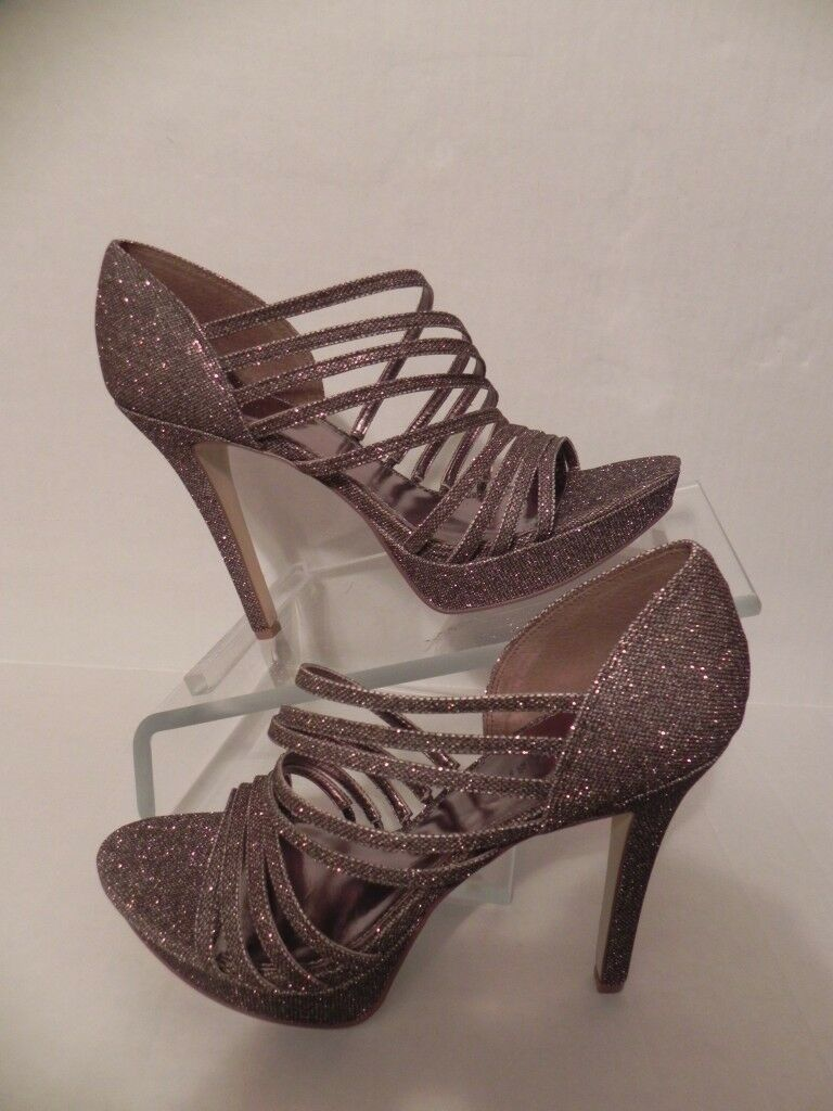 Gianni Bini Gliterati Dark Champagne Platform Strappy Strappy Strappy Sandal Heels Größe 10 dd8c15