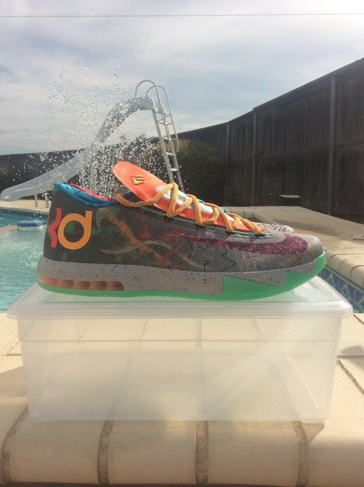 Nike KD 6 VI Premium What The KD SIZE 14 NEW W REPLACEMENT BOX