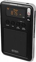 Compact Am/fm/shortwave Radio,travel Camping Hiking Bedroom Battery Black