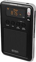 Compact Am/fm/shortwave Radio,travel Camping Hiking Bedroom Battery Black