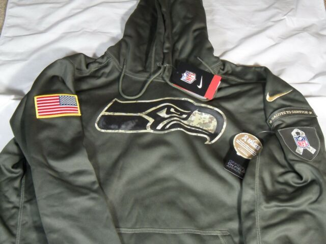the latest ac678 56b57 New Mens Nike 2015 NFL Seattle Seahawks Salute to Service STS KO Hoodie 2XL