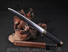 High Quality Chinese Short Sword Dagger Folded Pattern Steel Sharp Blade #6631