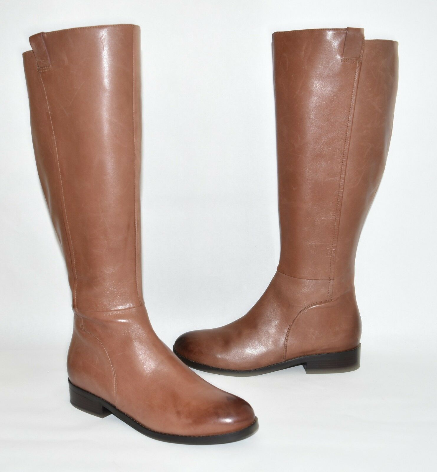 New New New  Cole Haan Katrina Riding Boot Brown Leather Size 9 B w08604 52ae51