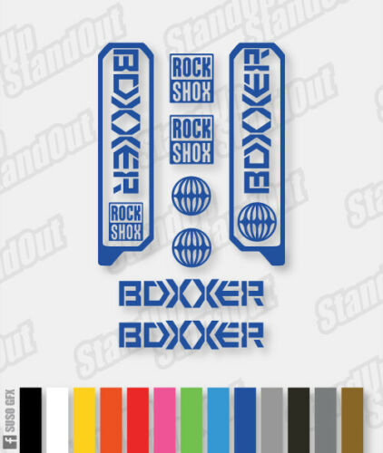 Stickers HOLLOW Custom RockShox Boxxer 2006-2009 WC World Cup Decals
