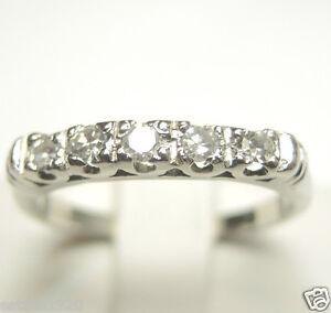 Image Is Loading Antique Art Deco Vintage Diamond Wedding Band Platinum