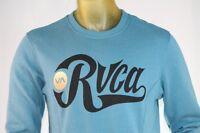 Rvca Men's Blue Hoodless Pull-over/sweatshirt W/ rvca / Logo Size Small