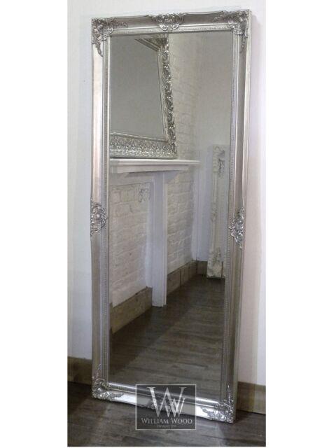 "Gerona Silver Shabby Chic Leaner Vintage Floor Mirror 25"" x 63"" X Large"
