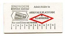 SNOWDON MOUNTAIN RAILWAY, LLANBERIS: EDMONDSON PLATFORM TICKET, 1995.