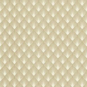 Details about MODERN ART DECO DIAMOND FAN WALLPAPER GOLD / WHITE , RASCH  433609